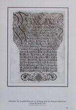 ADELSBRIEF DES LEOPOLD REINWALD VON WALDEGG Baden bei Wien Reprint Druck