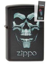 Zippo 218 Skull in Shadow Halloween RARE Lighter + FLINT PACK