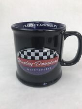 new harley davidson fat boy Raised Logo coffee mug Chrome Rare
