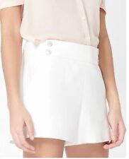 6 VERONICA BEARD SHORTS Womens KIMM Ivory Cotton Off White NWT $350