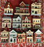 LOT OF 12 HALLMARK NOSTALGIC HOUSES & SHOPS SERIES COLLECTIBLE ORNAMENTS 1984