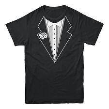 Fake Tuxedo Tux Bachelor Party Formal Wear Black Tie Funny Prank Men's T-shirt