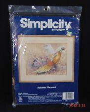 Simplicity Needle Craft Crewel Embroidery Kit AUTUMN PHEASANT #05003 UNOPENED