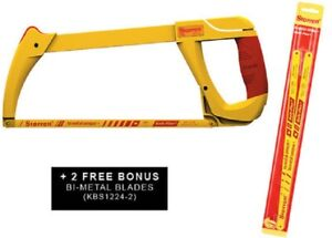 Starrett HIGH TENSION HACKSAW SRT145 300mm Heavy Duty +2xBi-Metal Blades