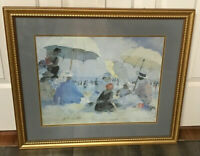 MARTHA WALTER, Listed Massachusetts, Beach Scene Print, Signed in the Plate