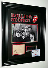 * RARE ROLLING STONES Signed Autograph Photo Picture Display * Inc MICK JAGGER