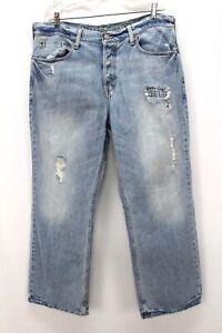 Délavé Clair American Eagle Délavé Patchwork Jeans Bootcut Jeans 36 x 30