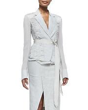 Donna Karan New York Black Label Contrast Sleeve Blazer Jacket Size 10 $2497