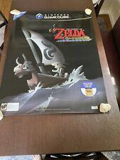 Vintage Nintendo GameCube Zelda Wind Waker GIANT 37x49 Store Display Sign Poster