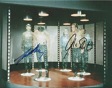 WILLIAM SHATNER & LEONARD NIMOY Signed 10x8 Photo STAR TREK ORIGINAL Cast COA