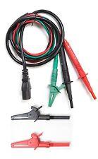 Fused 3-Wire Distribution Board Test Leads,Croc Clips TL-102-C1 for Fluke Robin