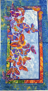 Butterfly Panel- patchwork panel- applique panel