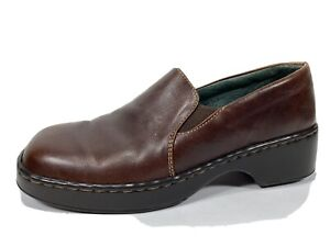Born Brown Leather Loafers Womens 8.5 M