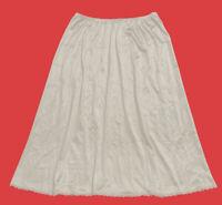 """VANITY  FAIR ... Vintage  31""""  Nylon  Half  Slip ... Ivory ... Size  M"""