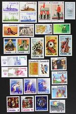 CANADA Postage Stamps, 1976 Complete Year Set collection, Mint NH, See scans
