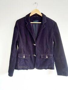 Boden Size 16 Cord Jacket Navy Blue Pockets