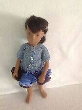 VIntage Sasha dolls ruffle skirt and short sleeve cardigan