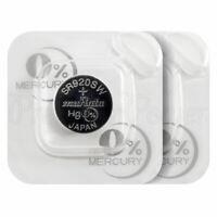 2 x Murata 371 batteries SR920SW Silver Oxide 1.55V 370 V371 SR69 for Watches