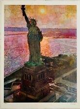"Bernie Fuchs ""STATUE of LIBERTY"" 37""x 27"" Signed Limited Edition Lithograph"