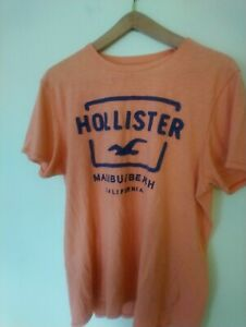 Vintage Hollister Abercrombie Orange Cotton Tshirt  XL 100% Cotton Like New