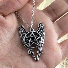 Angel Pentagram Amulet Winchester Inspire Super & Natural Pendant Necklace