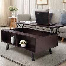 Lift Top Coffee Table Furniture Living Room w/Hidden Compartment Storage Shelf