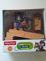 ** FISHER PRICE Little People Klip Klop Mike The Knight Mike & Galahad Horse Toy