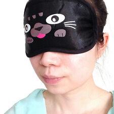 New Cute Cat Eye Travel Sleep Lightproof Mask Blindfold Portable Nap Cover'