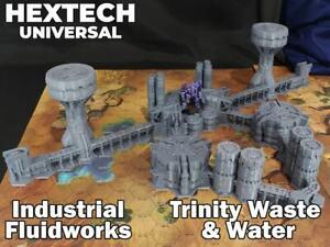 HEXTECH - Industrial Fluidworks Set - Epic 40k - Battletech - Scenery - 6mm - AT