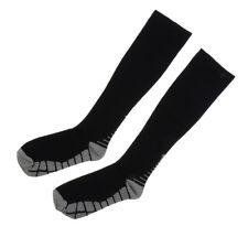 Unisex Football Plain Long Sock Sports Knee High Hockey Soccer Compression Socks