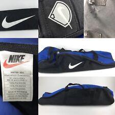 """ab0b2e6866e1 Vtg 90s NIKE Royal Blue Black Baseball Carry Bag Big White Swoosh 35"""" Long"""