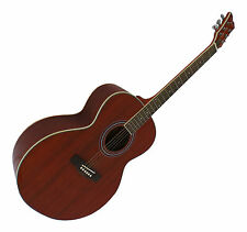 Acoustic Guitar Right-Handed full size Mahogany Jumbo pack 4/4 6 strings Rino88