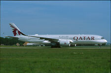 ZRH15  Original aircraft slide/Dia  Qatar A350 A7-AML