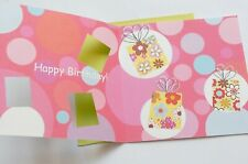 Birthday Greetings Card with Silver writing, Square, Handmade 12.5 x 12.5 cm