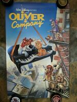 """Walt Disney's OLIVER AND COMPANY 1988 promotional mini poster approx 17"""" x 26"""""""