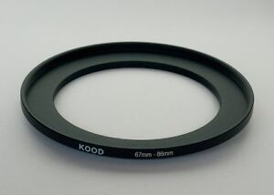 STEP UP ADAPTER 67MM-86MM STEPPING RING 67MM TO 86MM 67-86 FILTER ADAPTOR