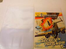 SIZE A. 100 x EARLY SIZE COMMANDO COMIC BAGS. INCLUSIVE OF U.K. POSTAGE