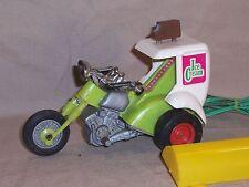 Vintage Remco 1970 Remote Control Motorcycle Trike Ice Cream Vendor