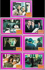 """Poster 7 Lobby Cards Bullitt 1968 11""""x14"""" VF 7.5 Steve McQueen Robert Vaughn"""