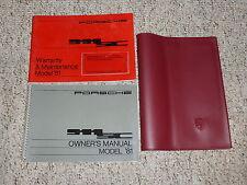 1981 Porsche 911SC 911 SC Owner's Owners Operators Manual Book Coupe Targa 3.0L