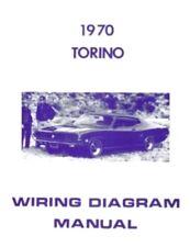 FORD 1970 Torino Wiring Diagram Manual 70