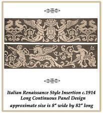 1914 Filet Lace Chart Pack Italian Renaissance Border