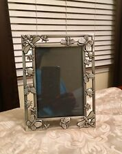 Vintage Pewter Butterfly Dragonfly Lady Bug and Insect Photo Frame