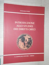 INTRODUZIONE ALLO STUDIO DEI DIRITTI GRECI Emanuele Stolfi Giappichelli 2006 di