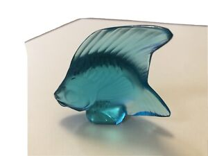 Lalique Teal Angel Fish