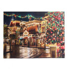 Street on Christmas Eve LED Light Up Lighted Canvas Print Picture Wall Decor