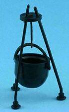 Dollhouse Miniature Hanging Black Cauldron Kit