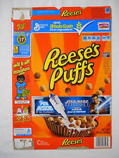 2011 General Mills Reese's Puffs Cereal Box-Star Wars Episode 1