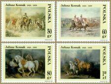 Poland / Polen 1997 - Mi 3662-65** Painting by Juliusz Kossak