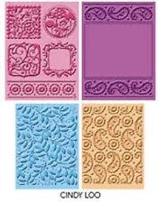 4 Cuttlebug Embossing Folder Cindy Loo Shower Invitation TAG A2 Cricut Paisley